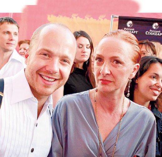 С мамой Ксенией Рябинкиной, солисткой Большого театра