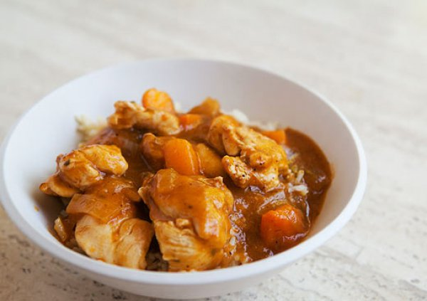 Рецепт                  Курица с абрикосами