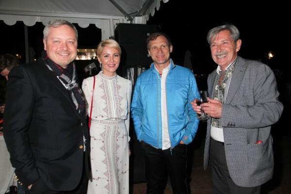 Игорь Янковский (слева), Светлана Сухина, Олег Скрипка, Андрей Халпахчи (справа)