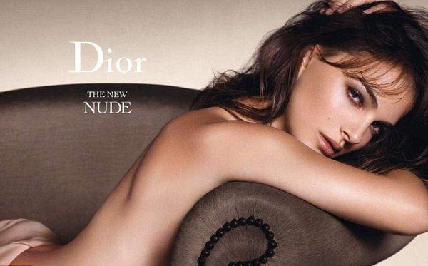 Натали Портман в рекламаной кампании Dior Rouge Nude