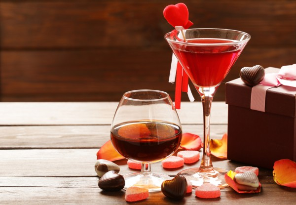 Коктейль на День святого Валентина