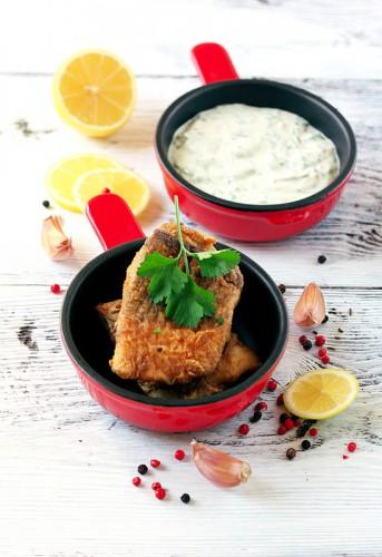 Рецепт                  Жареная рыба в пряной панировке