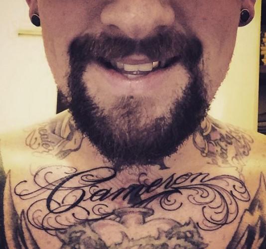 Татуировка в честь Камерон