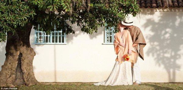 Свадьба в Колумбии в национальном стиле