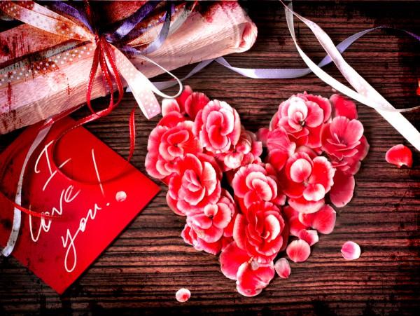 В День святого Валентина укрась праздничный стол цветами