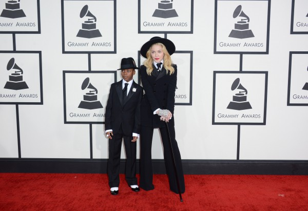 Мадонна с сыном Дэвидом на Грэмми 2014