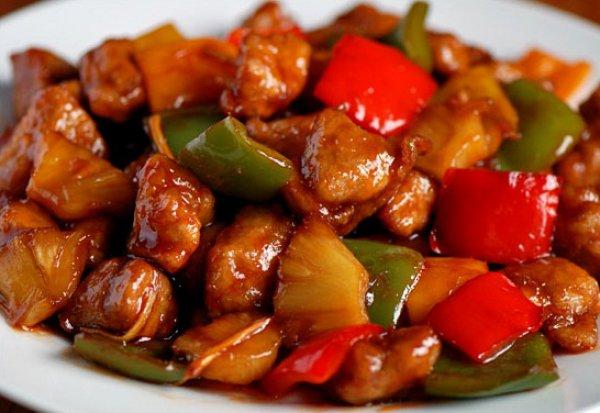 Рецепт                  Свинина в кисло-сладком соусе