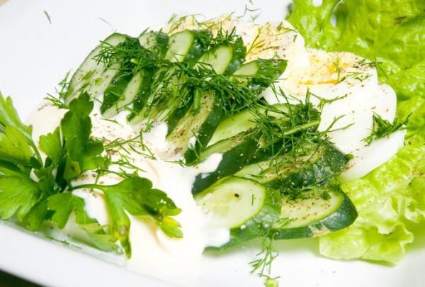 Рецепт                  Огуречно-яичный салат