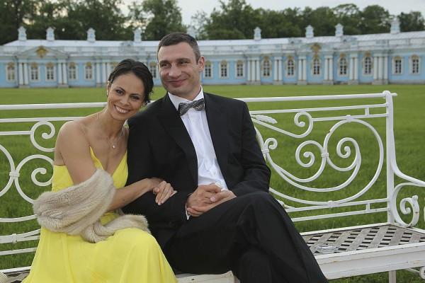 Виталий Кличко с женой Натальей