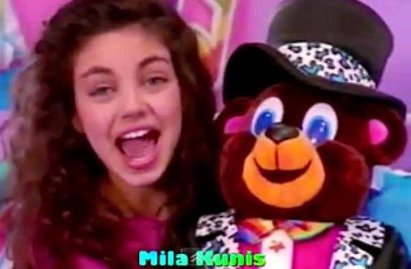 В 9 лет Мила Кунис снималась в детских рекламах