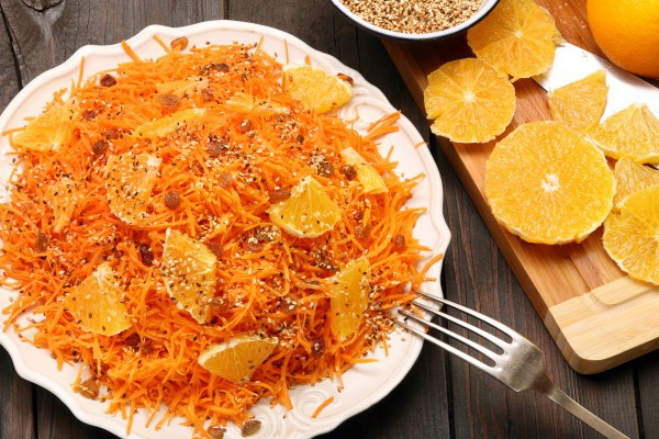 Вкусный постный салат из моркови