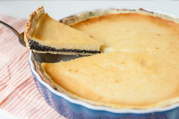 Маковый пирог с творогом