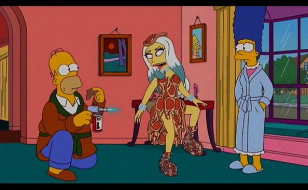 Кадр из долгожданной серии симпсонов с Lady Gaga