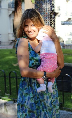 Виктория Боня с дочуркой Анджелиной