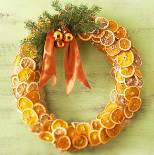 апельсиновый венок