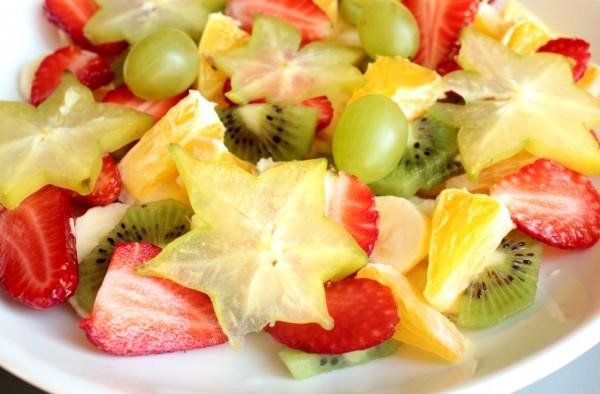Рецепт                  Фруктовый салат с медово-лимонной заправкой