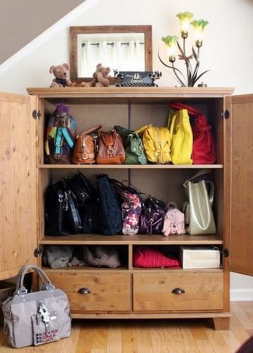 Как хранить сумки: Море идей для твоего удобства.  (ФОТО) .