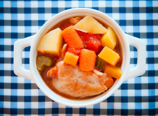 Рецепт                  Тушеные куриные бедрышки с картофелем