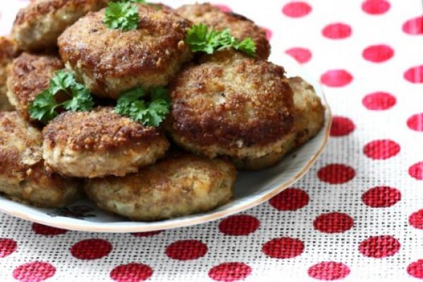 Рецепт                  Котлеты с зеленью и горчицей