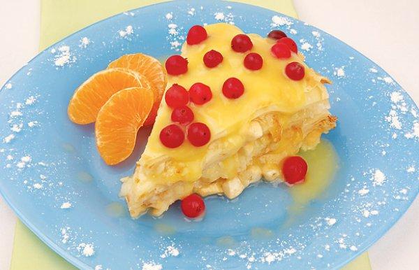 Рецепт                  Орехово-апельсиновый блинный пирог