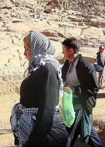 Розинская и Мельниченко во время паломничества на гору Синай