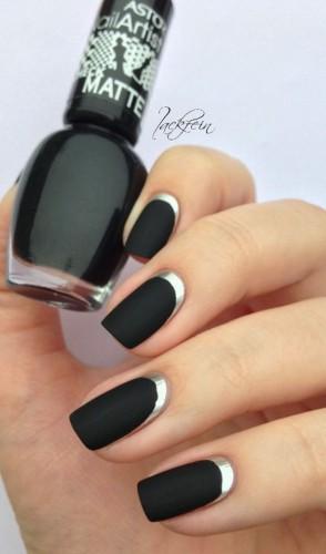 Черный цвет ногтей: ТОП-30 идей стильного маникюра