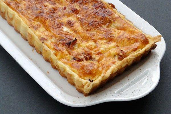 Рецепт                  Французский луковый пирог с сыром