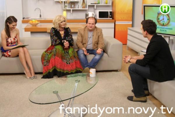 Ирина Билык и Виктор Бронюк (ТиК) в студии программы Подъем