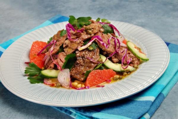 Салат с говяжьим стейком от Джейми Оливера