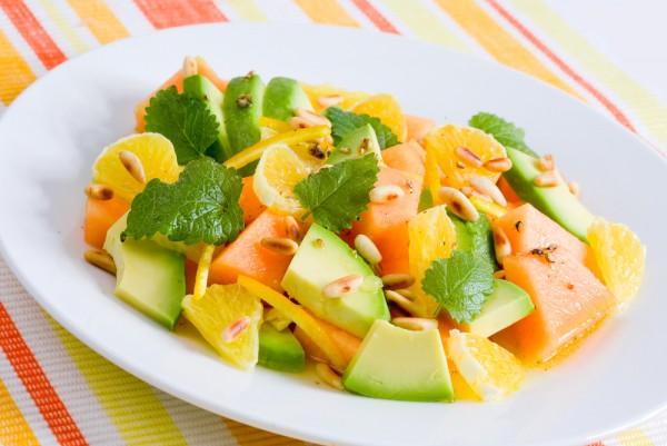 Рецепт                  Салат из дыни и авокадо