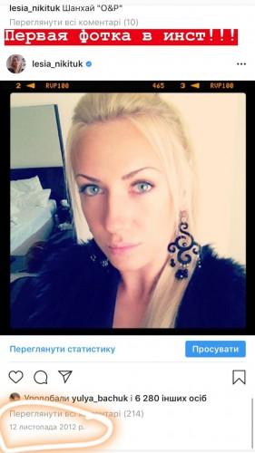 Instagram Леси Никитюк