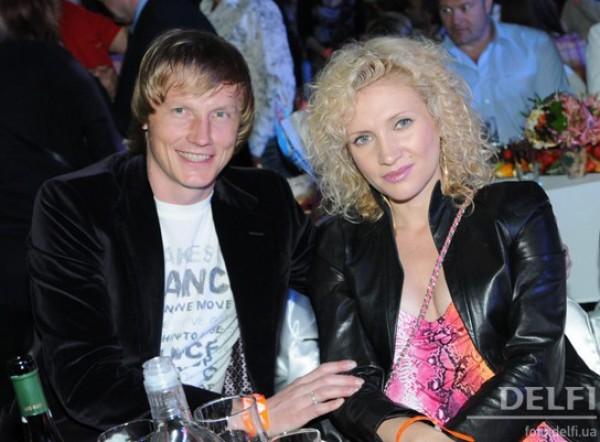 Андрей Гусин с женой