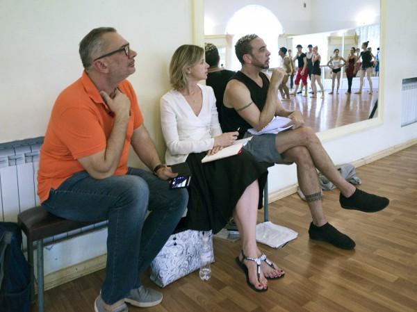Балетный продюсер Алена Матвиенко во время работы над проектом