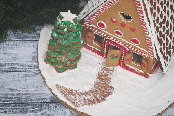 Имбирный домик на Новый год и Рождество