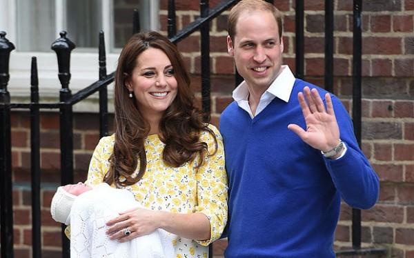 Кейт Миддлтон и принц Уильям показали дочь