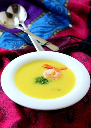 Рецепт                  Картофельный суп с креветками