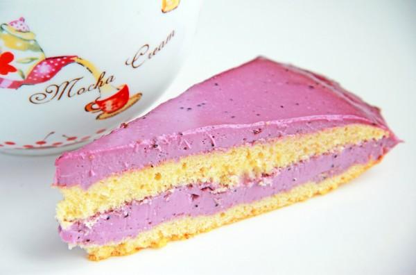 Рецепт                  Медовый торт с черничной начинкой