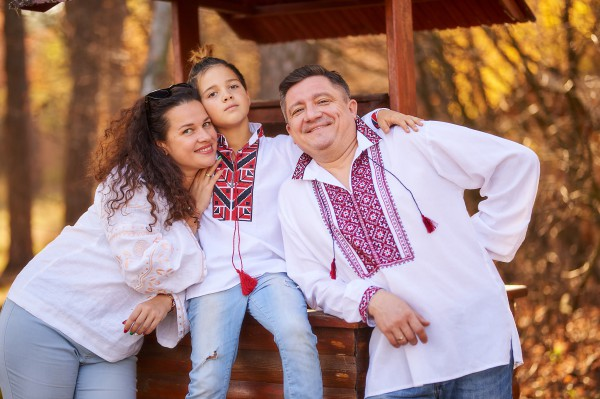 Андрей Бурым с женой и сыном