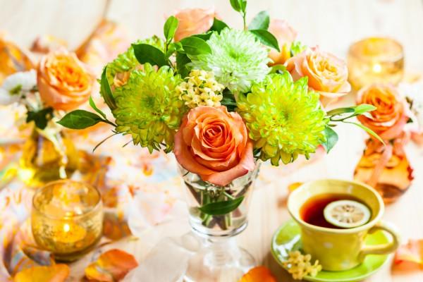 Композиция из осенних цветов