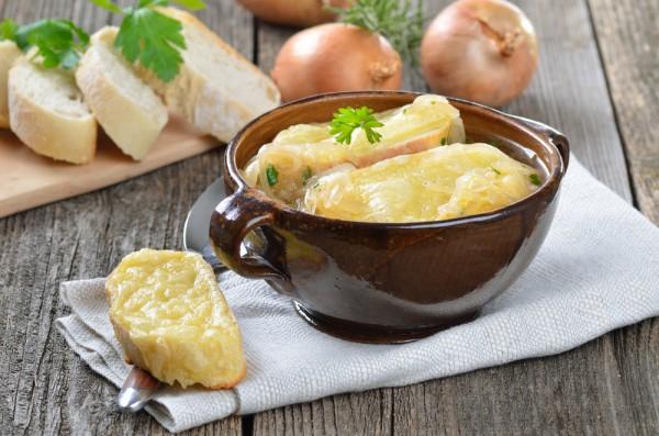 луковый суп рецепт с гренками