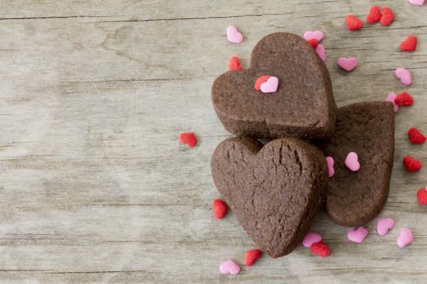 Печенье на День Валентина шоколадное