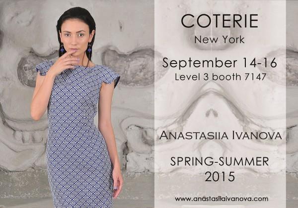 Презентация коллекции Анастасии Ивановой пройдет в рамках выставки fashion trade show Coterie