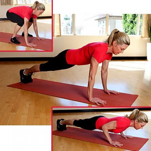 Это хорошее упражнение для укрепления мышц рук, спины и пресса