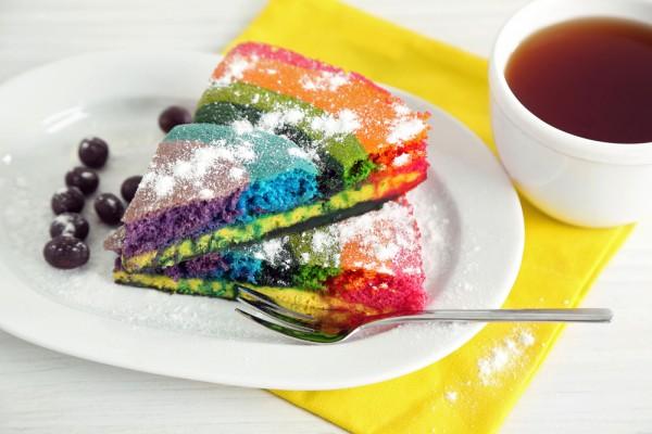 Радужный пирог: рецепт с фото