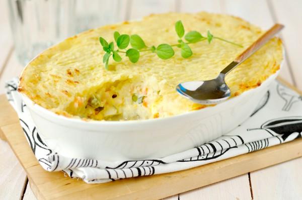 Рецепт                  Картофельная запеканка с рыбой