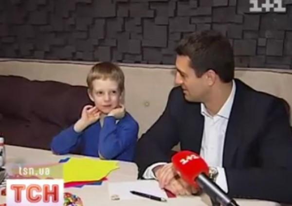 Николай Тищенко с сыном Даниилом