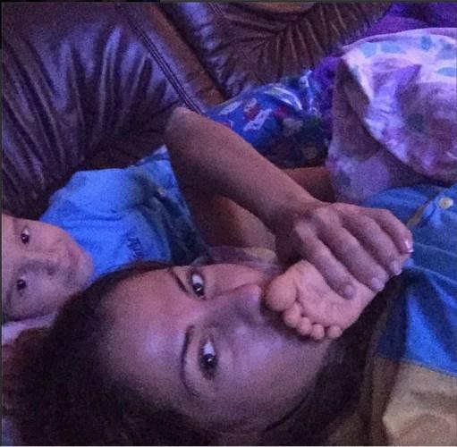 Беркова с пятилетним сыном