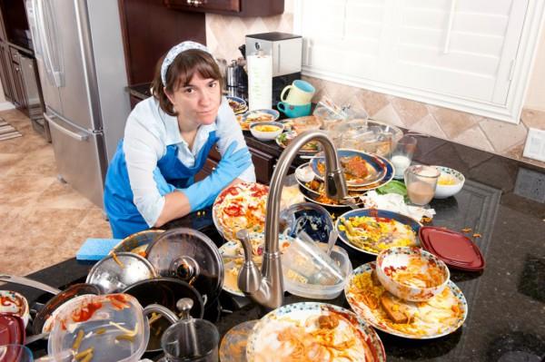Чем грязнее кухня, тем больше ты ешь