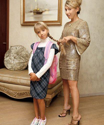 Елена Воробей с 8-летней дочкой Софией