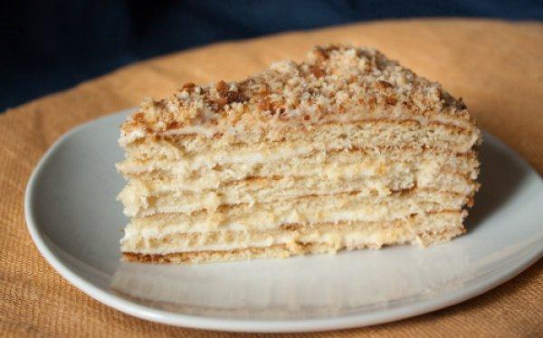 Рецепт                  Медовик со сметанным кремом